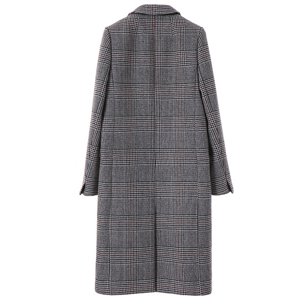 h-line formal check coat OW7WH524S