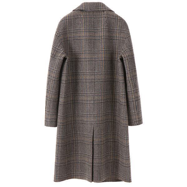 classic check handmade coat OW7WH6300