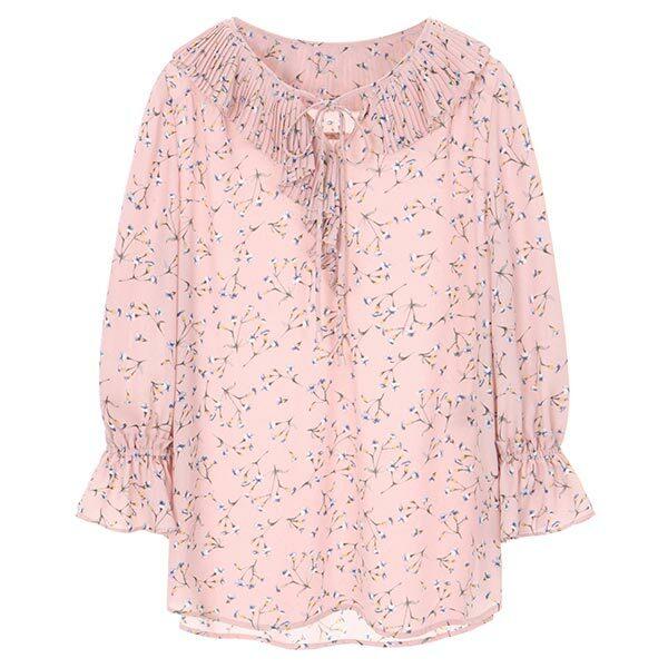 올리브데올리브[올리브데올리브] floral pattern ruffle blouse OW8MB3920