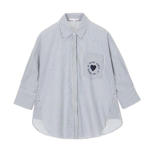 올리브데올리브[올리브데올리브] multi stripe shirt OW8MB4110