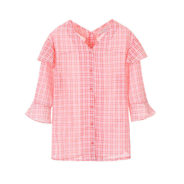 gingham check blouse OW8MB458S