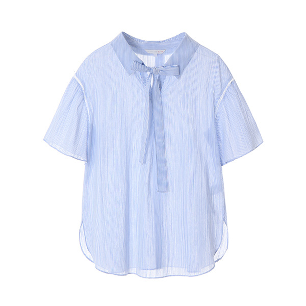 stripe ribbon blouse OW8MB5360