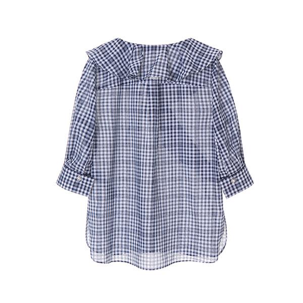 올리브데올리브[올리브데올리브] ruffle unbalance blouse OW8MB5702
