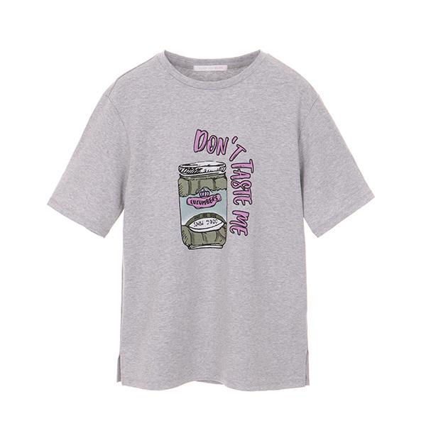 올리브데올리브[올리브데올리브] cotton lettering t-shirt OW8ME3040