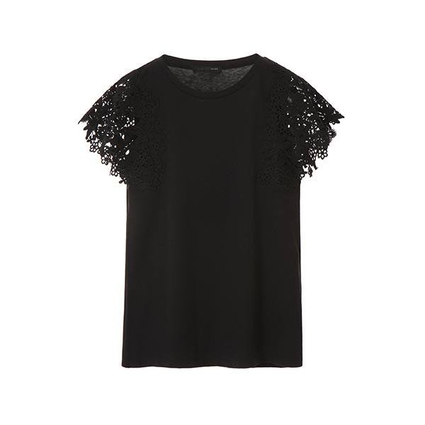 올리브데올리브[올리브데올리브] lace detail t-shirt OW8ME3730