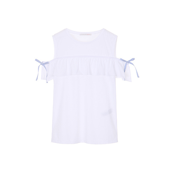 ruffle off shoulder T-shirts OW8ME5460