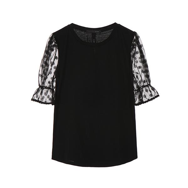dot pattern sheer T-shirts OW8ME5590