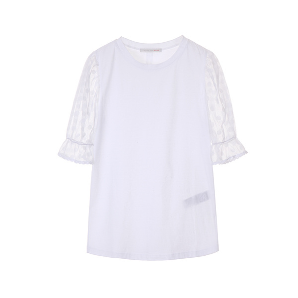 dot pattern sheer T-shirts OW8ME5590
