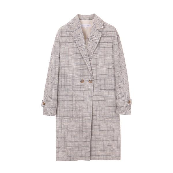 올리브데올리브[올리브데올리브] check single long jacket OW8MJ3180