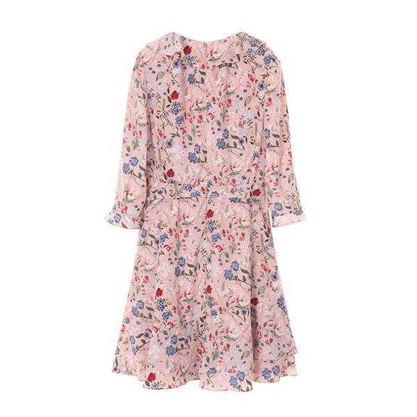 올리브데올리브[올리브데올리브] floral frill dress OW8MO3910
