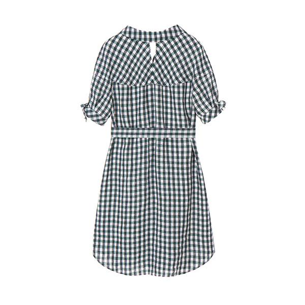 올리브데올리브[올리브데올리브] linen casual check dress OW8MO4210
