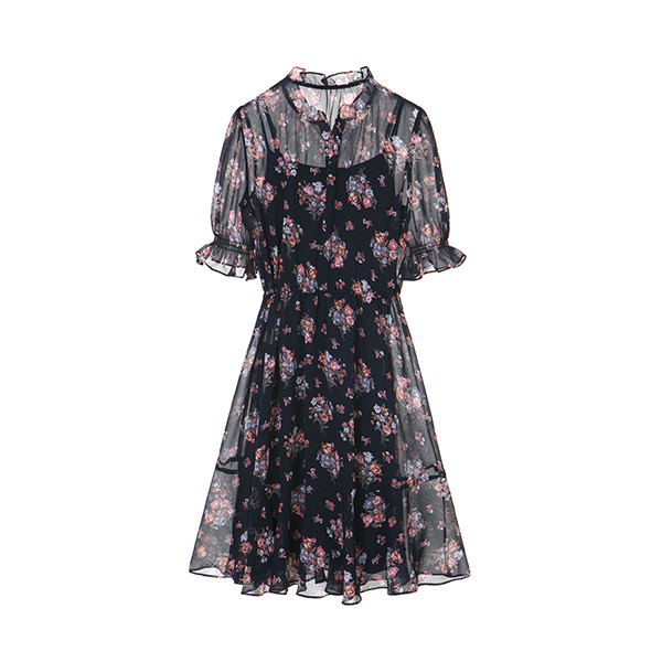 floral chiffon dress OW8MO503S