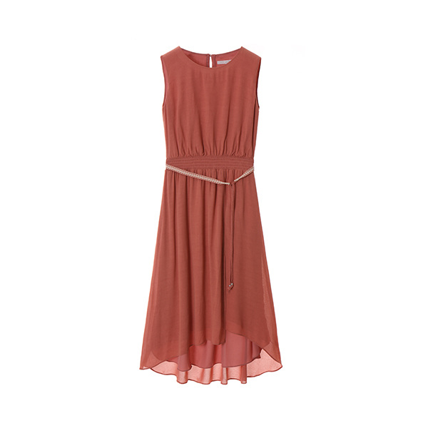 belted sleeveless maxi dress OW8MO5300