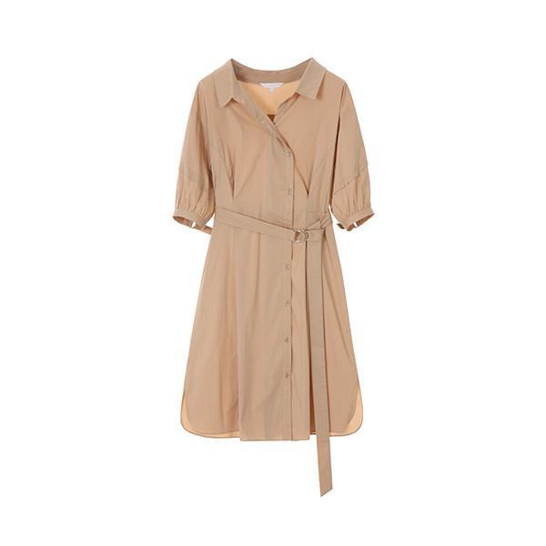 올리브데올리브[올리브데올리브] belted shirt-dress OW8MO575S