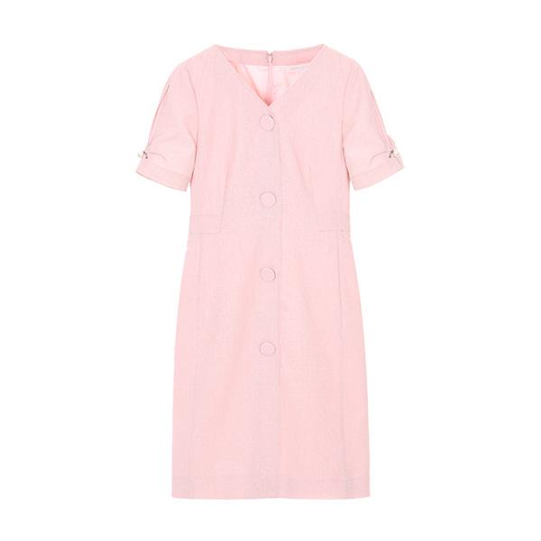 V neck button up dress OW8MO578S