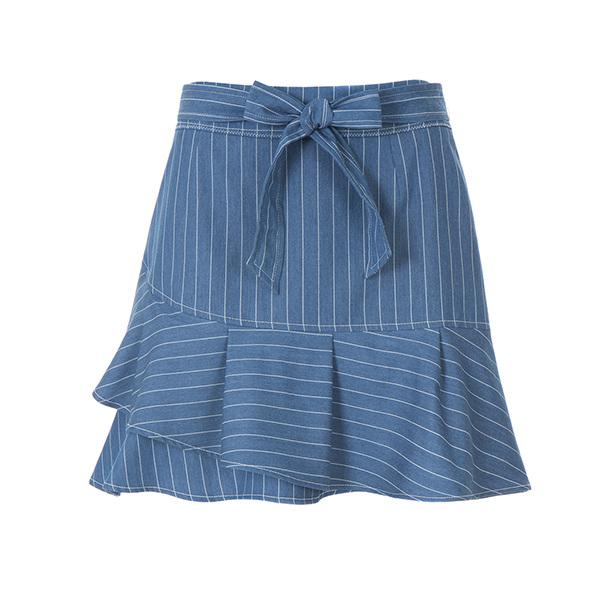 stripe frill skirt OW8MS489