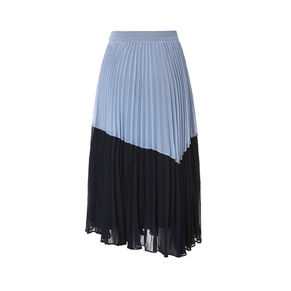 stripe pleats skirt OW8MS5520