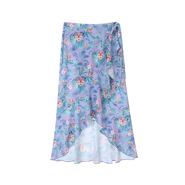 flower print wrap skirt OW8MS602