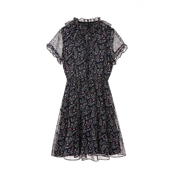 올리브데올리브[올리브데올리브] chiffon floral dress OW8MZ0610