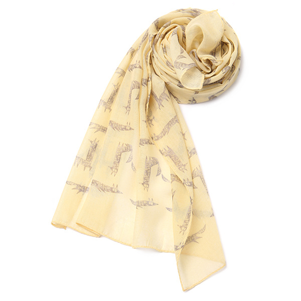 fox printing scarf OX8MF0830