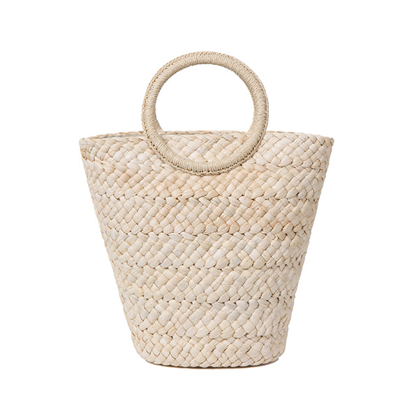 pom pom rattan bag OX8MG0880