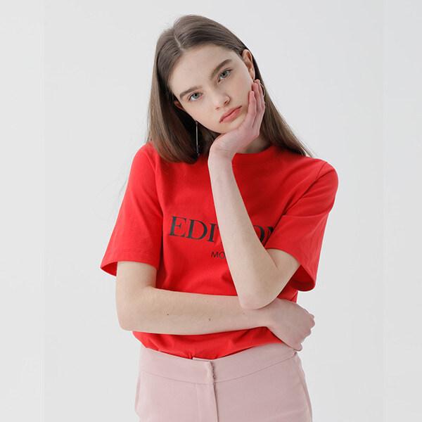 온앤온[온앤온] [66사이즈 예약판매/3월23일 순차배송]시그니처 레터링 티셔츠 NE9ME0900