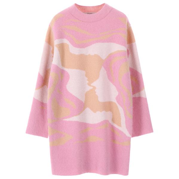 color mix pattern knit NK7WP4650