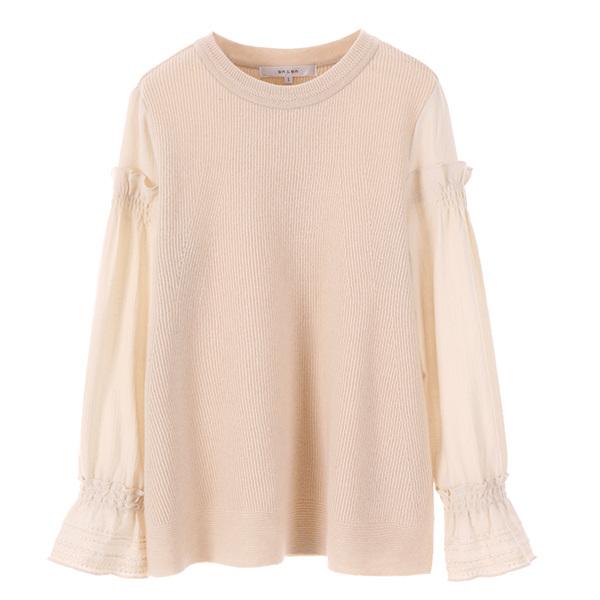 blouse layered frill knit NK7WP5140