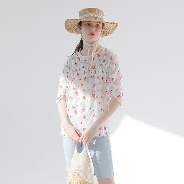 온앤온[온앤온] 꽃잎 쉬폰 블라우스 NW9MB299