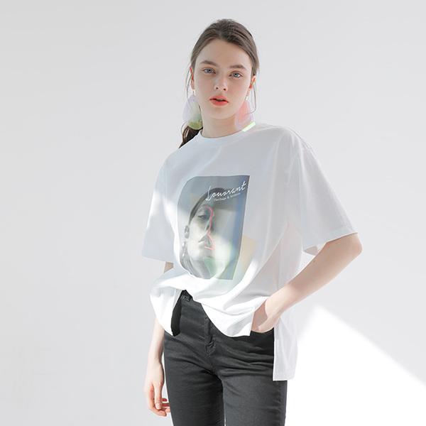 온앤온[온앤온] 페이스프린팅 티셔츠 NW9ME341