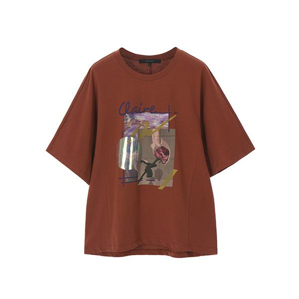 라운드 그래픽 티셔츠 NW8AE1180