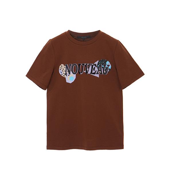 스팽글 레터링 티셔츠 NW8AE1320