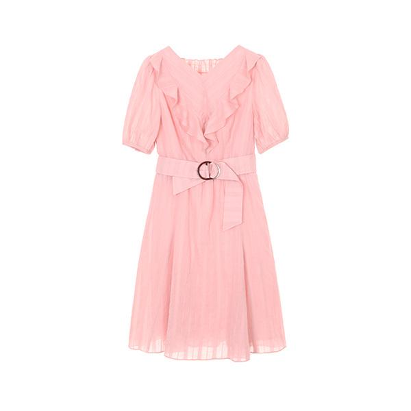 노카라 프릴 디테일 드레스 NW8AO1370