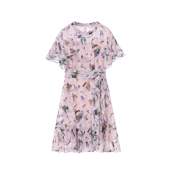 패턴 쉬폰 드레스 NW8AO1440