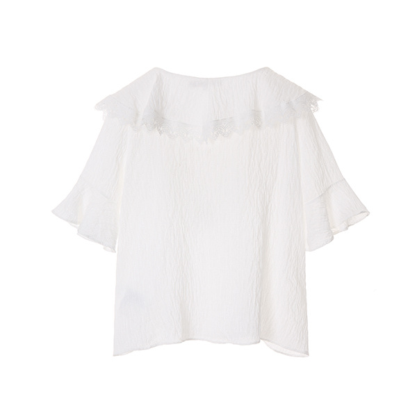 lace ruffle blouse NW8MB6850