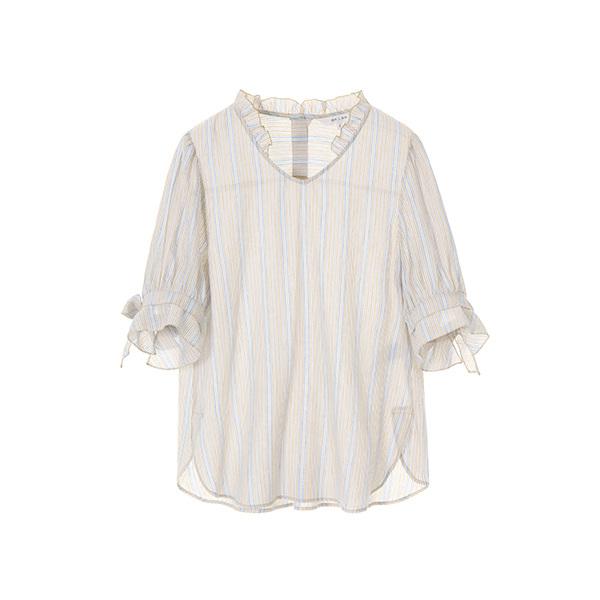 ribbon shirring blouse NW8MB7340