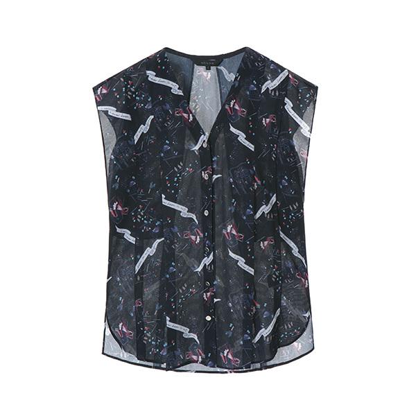 v-neck pattern blouse NW8MB8320