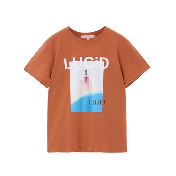일루션 프린팅 티셔츠 NW8ME6870