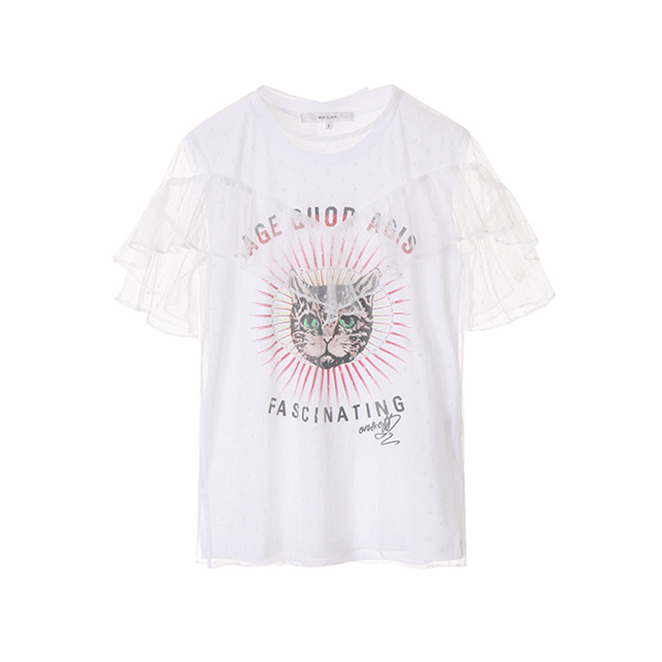 see-through lettering t-shirt NW8ME8890