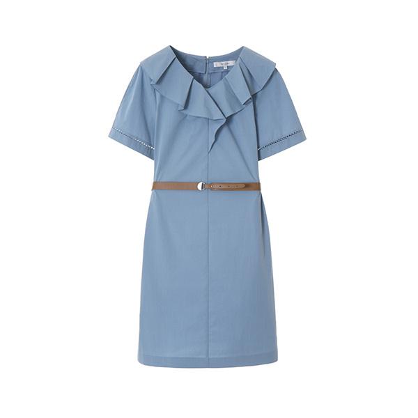 v-neck frill dress NW8MO6980