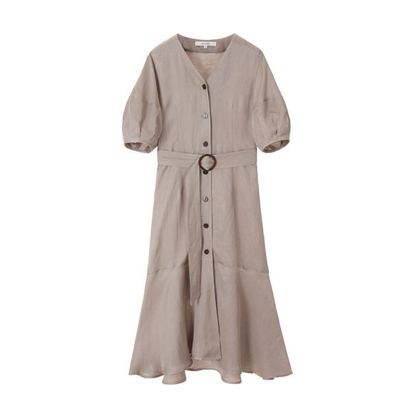 v-neck belted dress NW8MO876