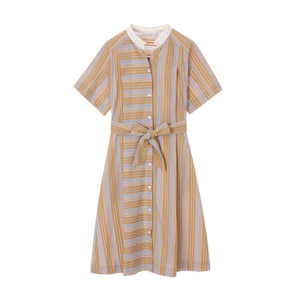 stripe belted long dress NW8MO8810