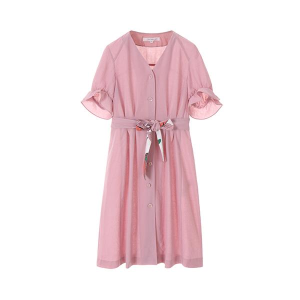 v-neck drape dress NW8MO8990