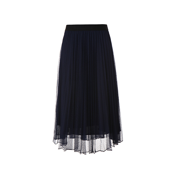 pleats mash long skirt NW8MS6740