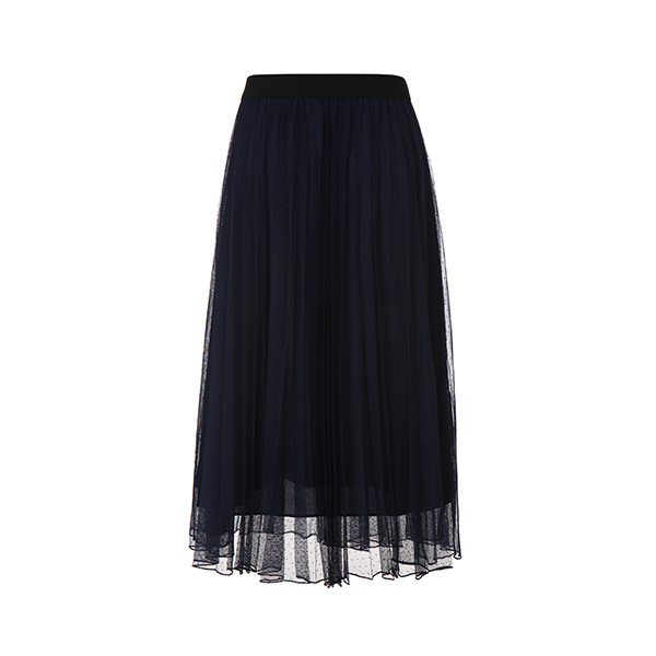 pleats mash long skirt NW8MS674