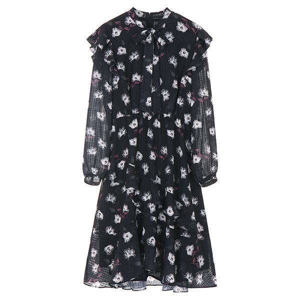 온앤온[온앤온] floral pattern chiffon dress NW8SO5961