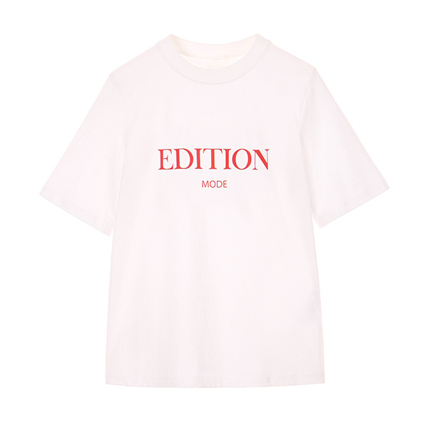 EDITION LETTERING T-SHIRT_RED NE8ME090