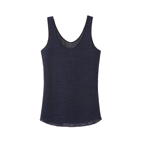 CORDUROY SLEEVELESS TOP_NAVY NE8ME3240