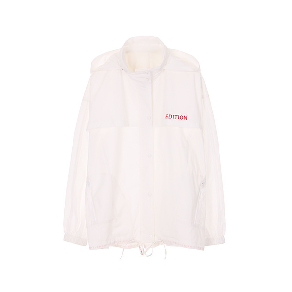 BASIC ANORACK HOODY JUMPER_IVORY NE8MM3020