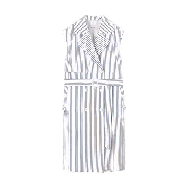 TRECH STRIPE TWO-WAY VEST_WHITE NE8MV3040